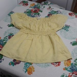 Edward yellow linen blouse